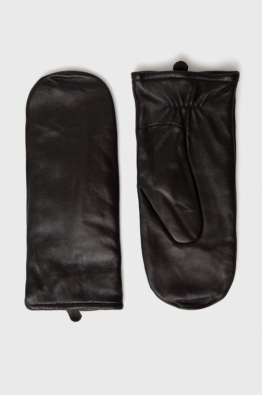 brązowy Samsoe Samsoe - Rękawiczki skórzane Damski