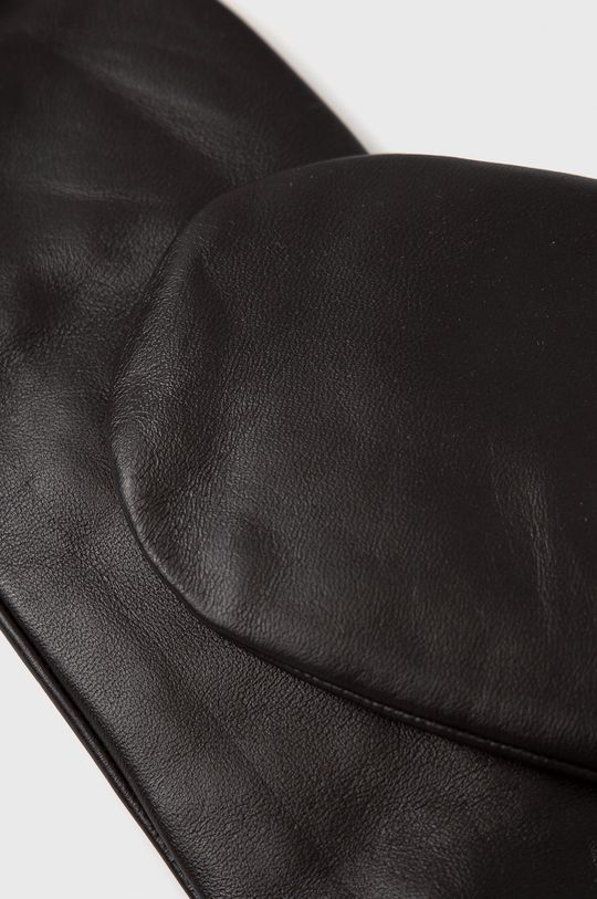 Samsoe Samsoe - Rękawiczki skórzane brązowy