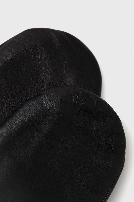 Samsoe Samsoe - Rękawiczki skórzane czarny