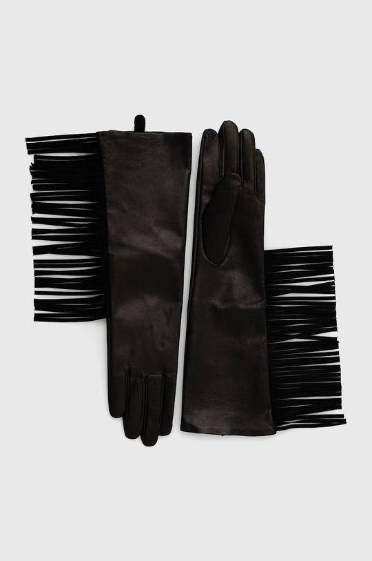 černá Twinset - Kožené rukavice Dámský