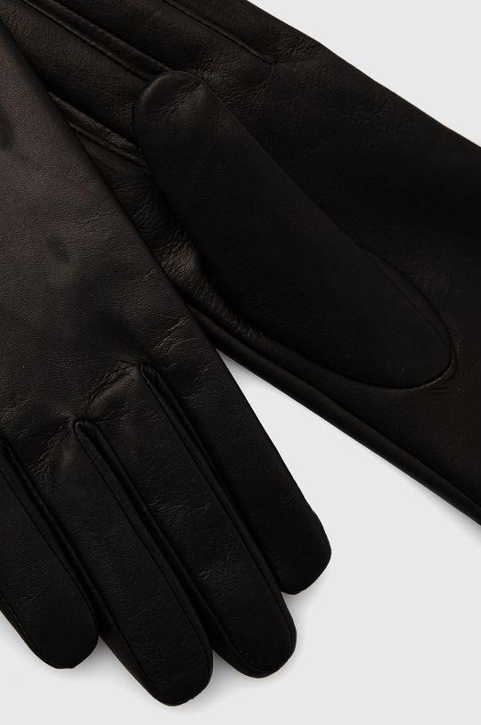 Twinset - Kožené rukavice černá
