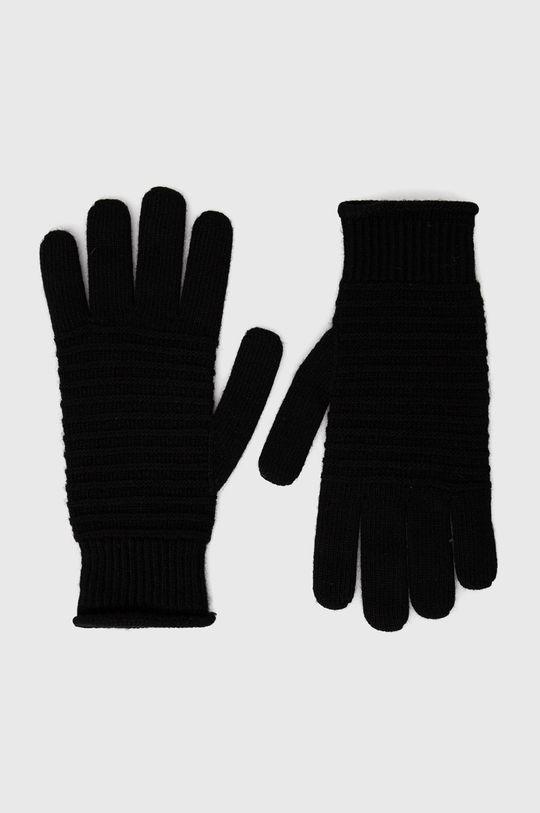 černá Sisley - Rukavice se směsí kašmíru Dámský