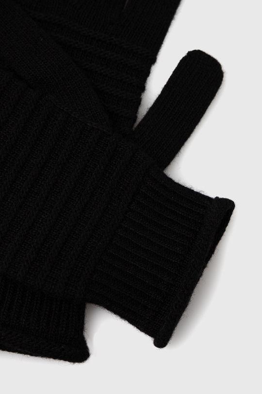 Sisley - Rukavice se směsí kašmíru černá