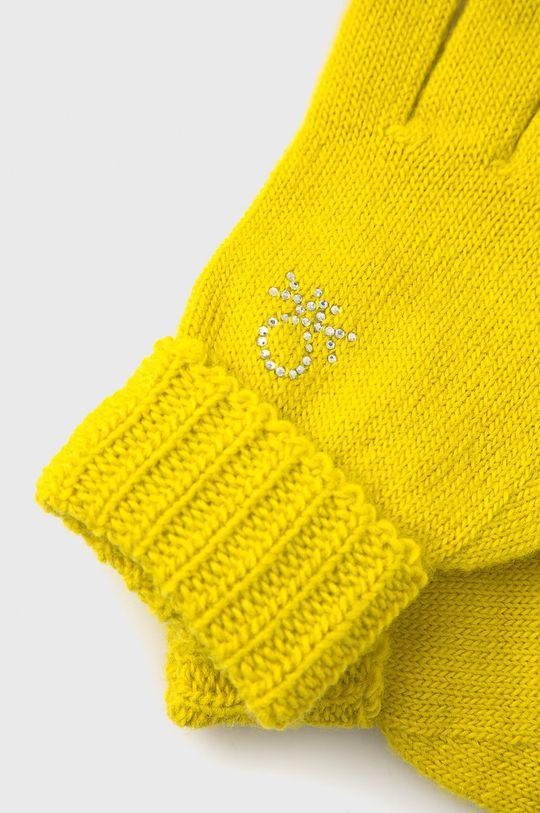 United Colors of Benetton - Rękawiczki dziecięce żółty