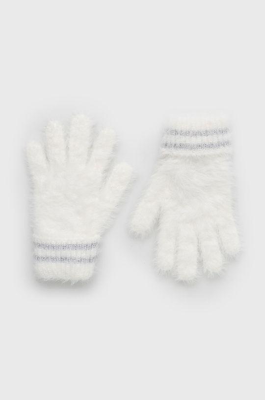 biały United Colors of Benetton - Rękawiczki dziecięce Dziewczęcy