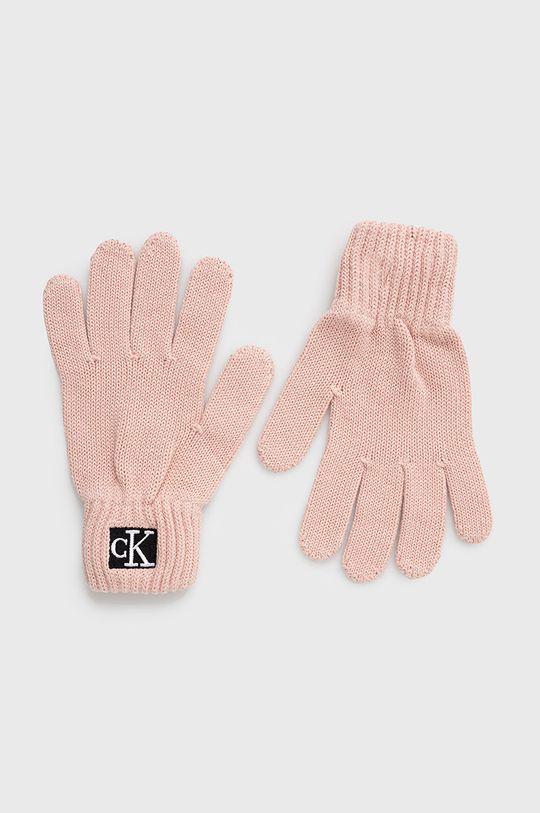 różowy Calvin Klein Jeans - Rękawiczki dziecięce Dziecięcy