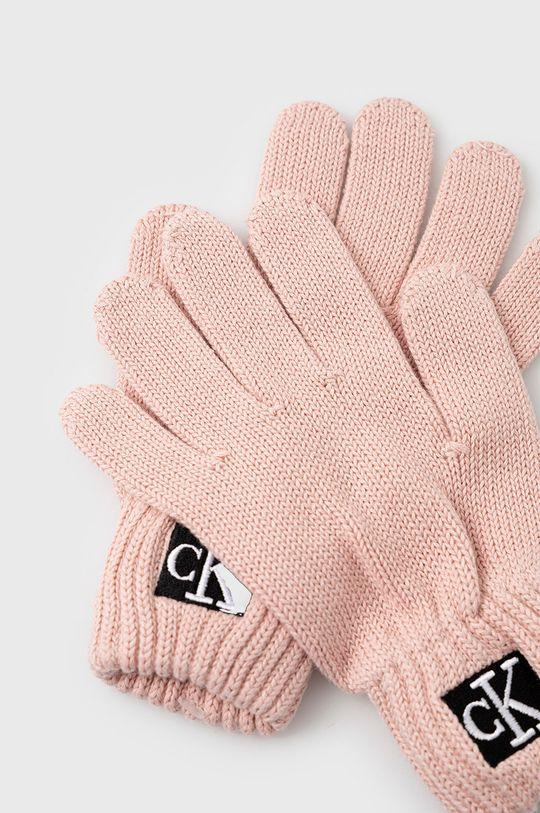 Calvin Klein Jeans - Rękawiczki dziecięce różowy