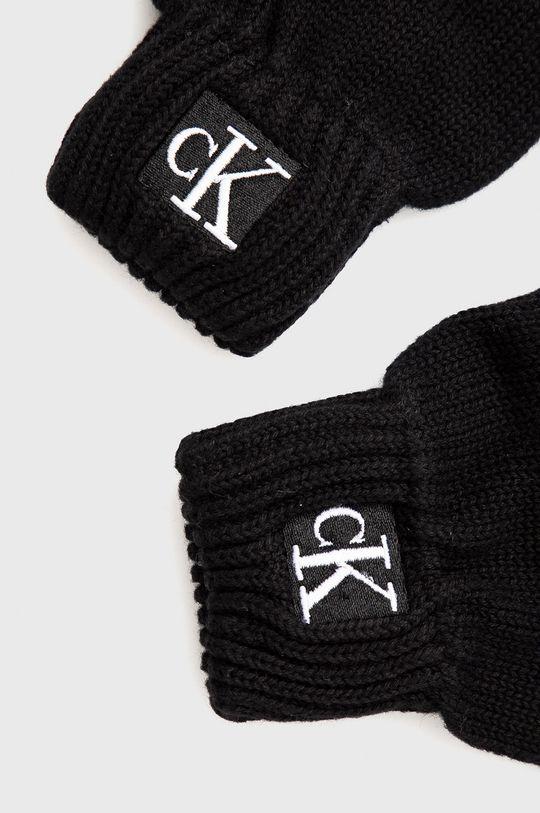 Calvin Klein Jeans - Rękawiczki dziecięce czarny