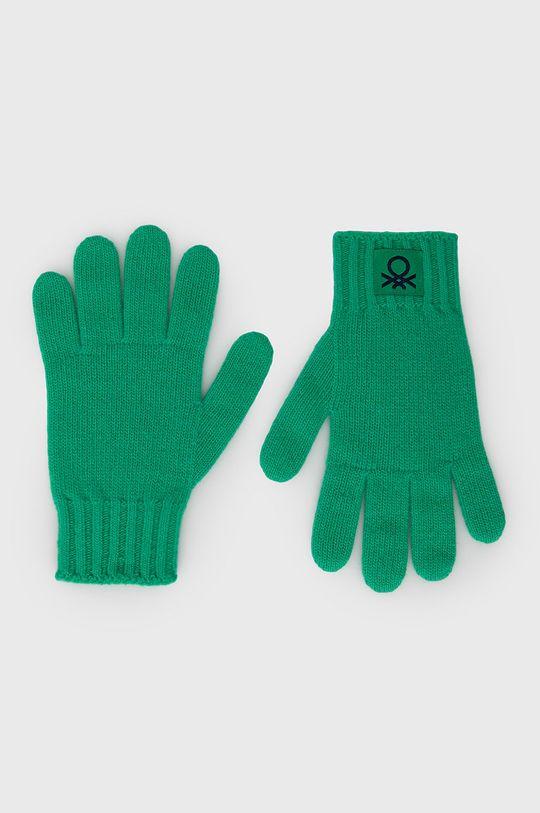 zielony United Colors of Benetton - Rękawiczki dziecięce Dziecięcy