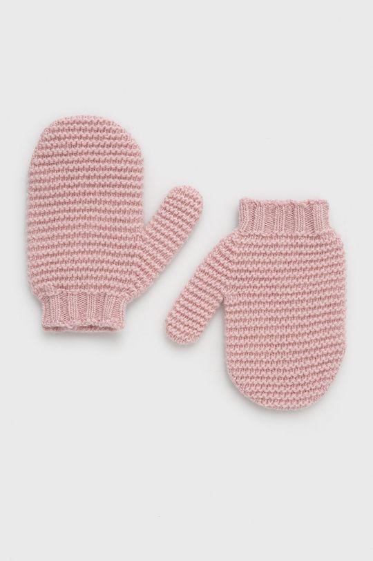 różowy United Colors of Benetton - Rękawiczki dziecięce Dziecięcy