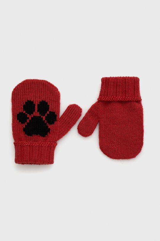 červená United Colors of Benetton - Dětské rukavice Dětský