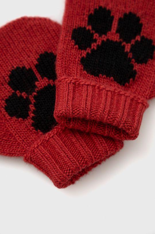 United Colors of Benetton - Dětské rukavice červená