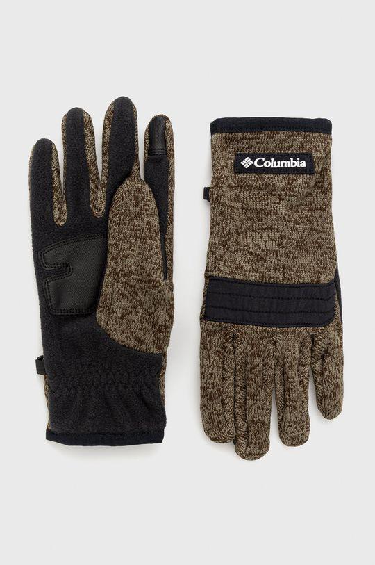 oliwkowy Columbia - Rękawiczki Męski