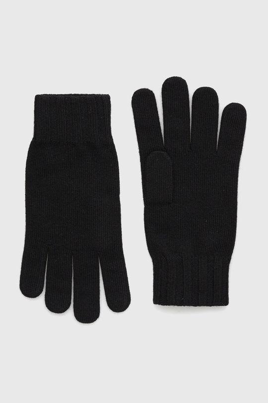 czarny Sisley - Rękawiczki Męski