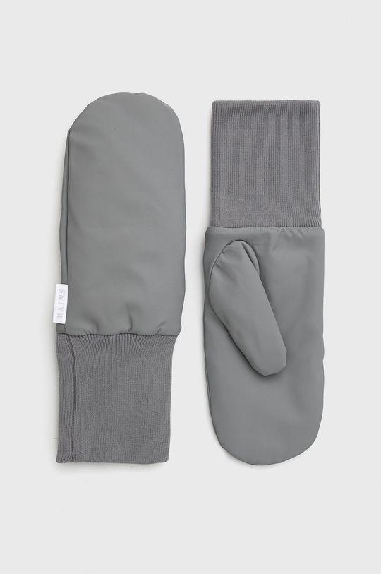 jasny szary Rains - Rękawiczki 1670 Mittens Padded Unisex