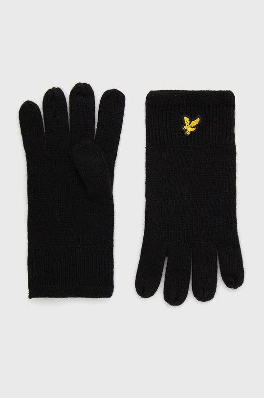 czarny Lyle & Scott - Rękawiczki Unisex