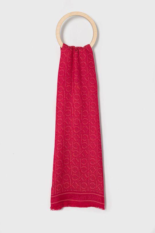 ostrá růžová Calvin Klein - Šátek Dámský