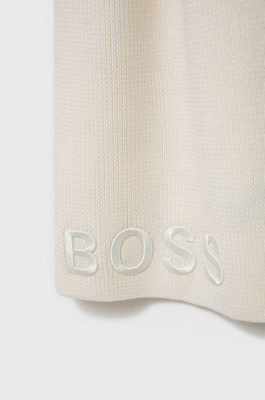 Boss - Szalik wełniany biały