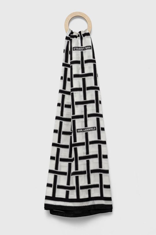 czarny Karl Lagerfeld - Chusta Damski