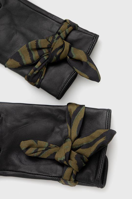 Scotch & Soda - Kožené rukavice černá