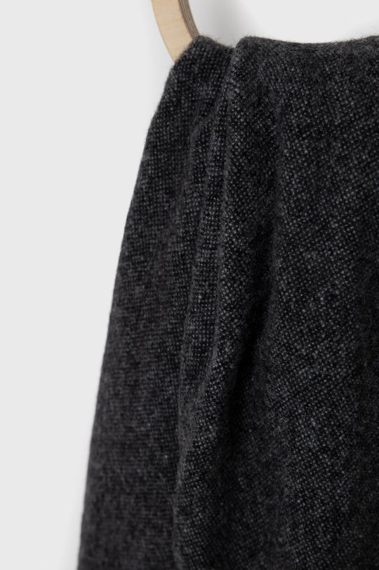 Hugo - Szalik wełniany czarny