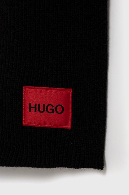 Hugo - Vlněná šála černá