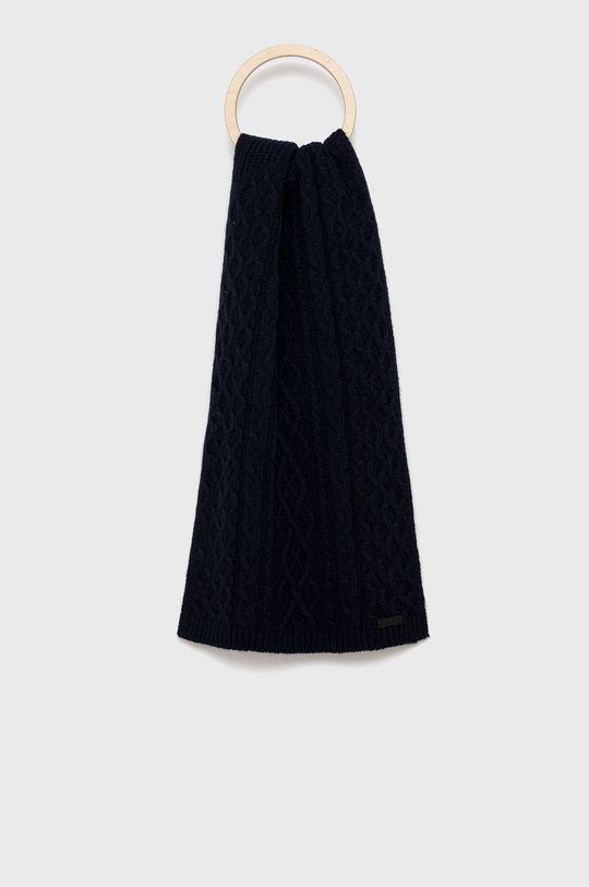 námořnická modř Boss - Šátek z vlněné směsi Pánský