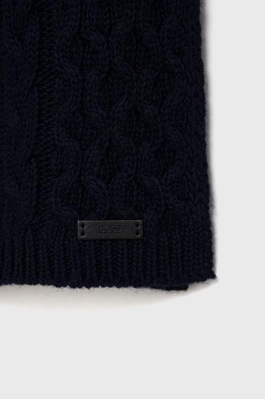 Boss - Šátek z vlněné směsi námořnická modř