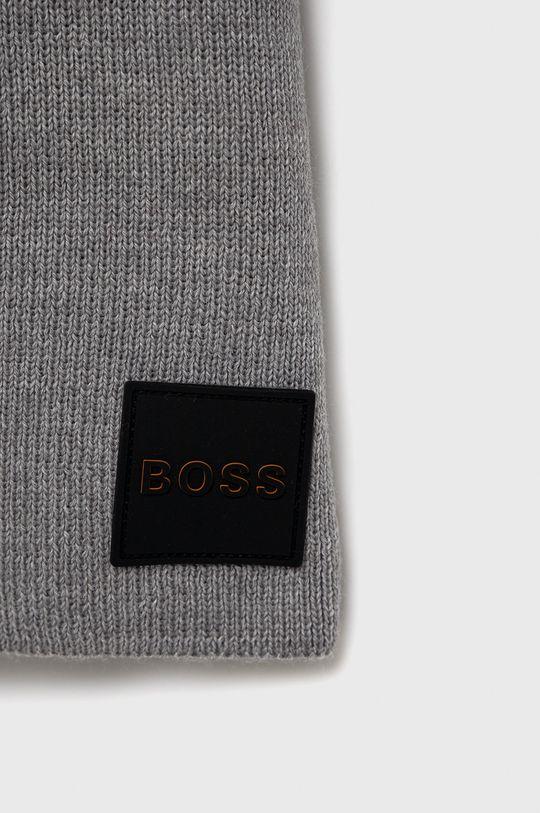 Boss - Szalik wełniany Boss Casual szary