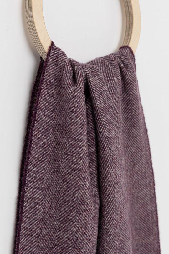 ETON - Szalik wełniany purpurowy