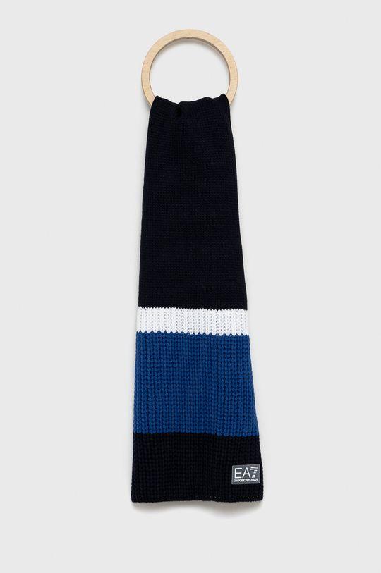 niebieski EA7 Emporio Armani - Szalik Męski