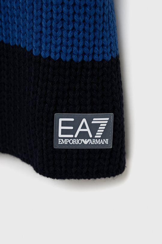 EA7 Emporio Armani - Szalik niebieski