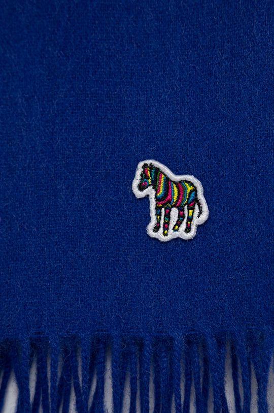 PS Paul Smith - Szalik wełniany niebieski