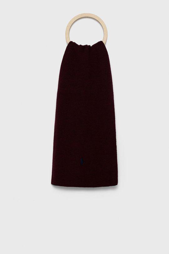 kasztanowy Polo Ralph Lauren - Szalik wełniany Męski