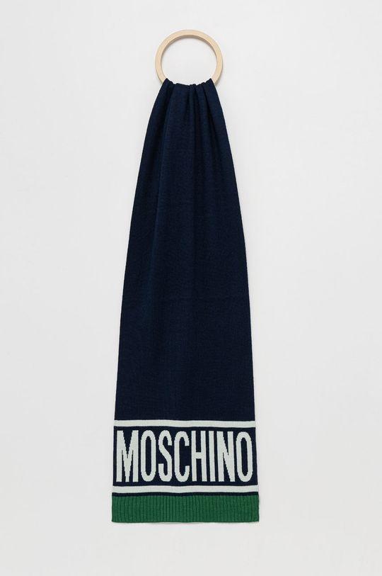 niebieski Moschino - Szalik wełniany Męski