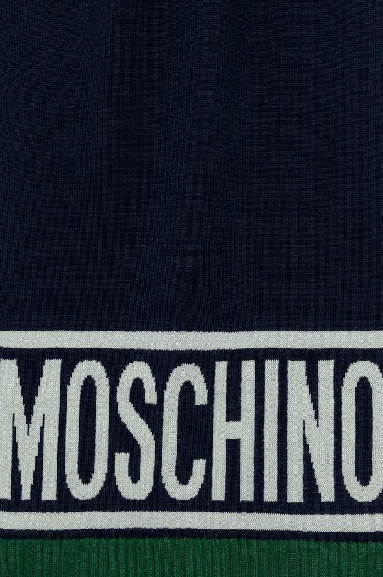 Moschino - Szalik wełniany niebieski