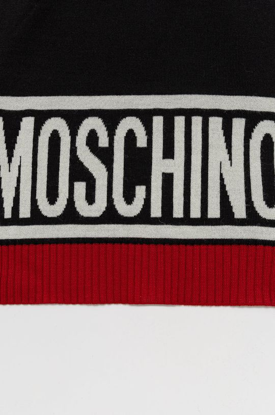 Moschino - Szalik wełniany czarny