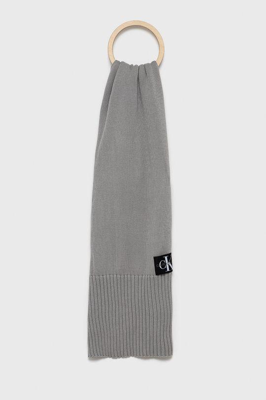 szary Calvin Klein Jeans - Szalik Męski