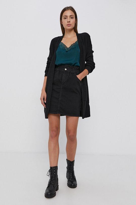 czarny Only - Spódnica jeansowa bawełniana Damski