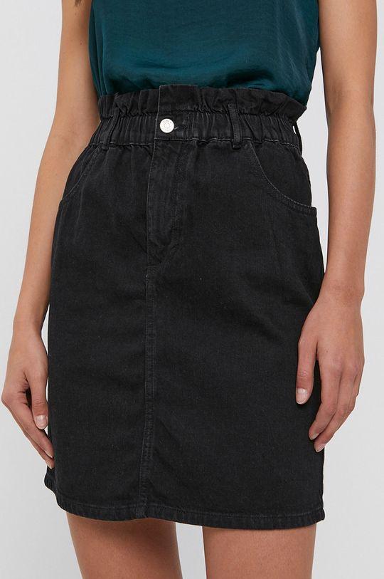 Only - Spódnica jeansowa bawełniana czarny