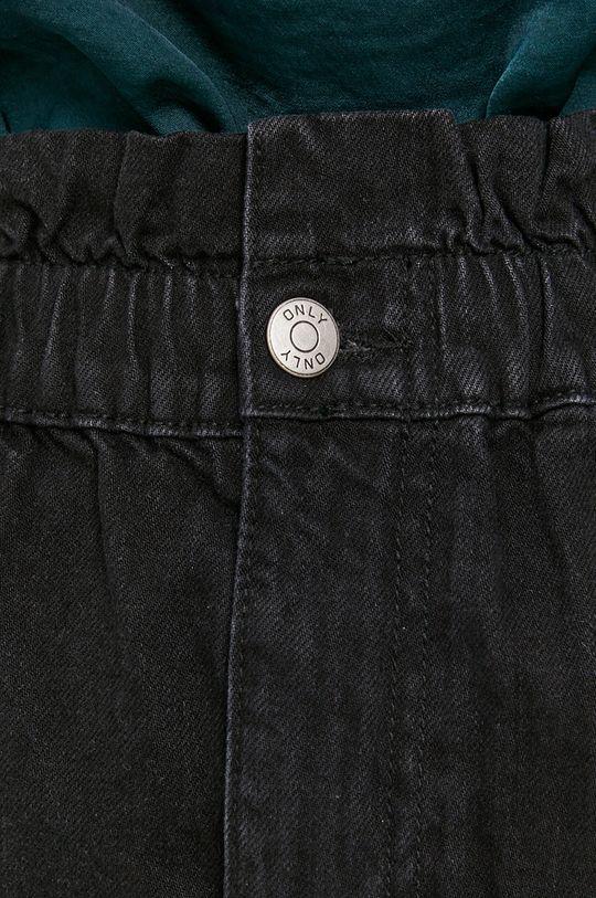 czarny Only - Spódnica jeansowa bawełniana