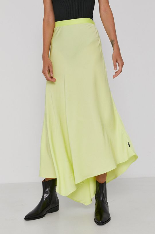 Calvin Klein - Spódnica jasny żółty