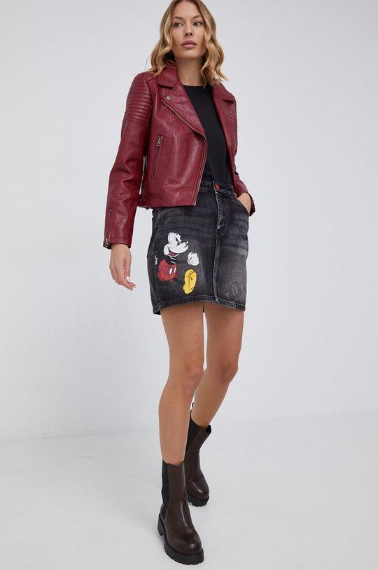 Desigual - Spódnica jeansowa Mickey Mouse szary