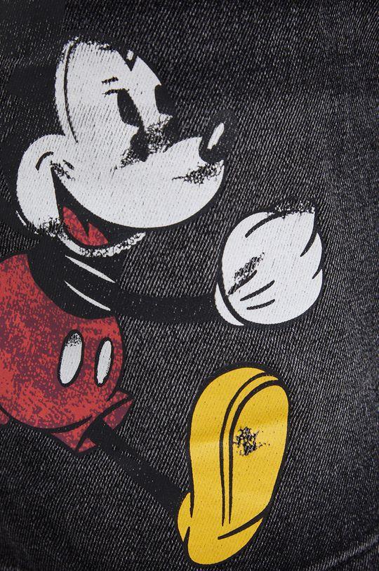 szary Desigual - Spódnica jeansowa Mickey Mouse