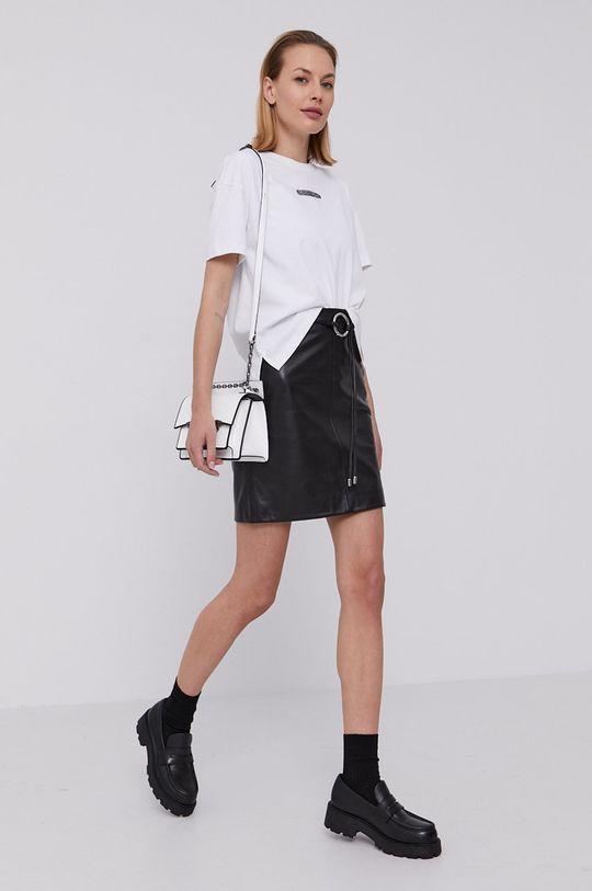 Hugo - Kožená sukně černá
