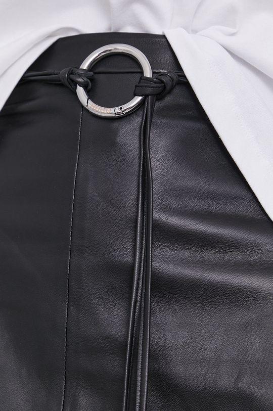 černá Hugo - Kožená sukně