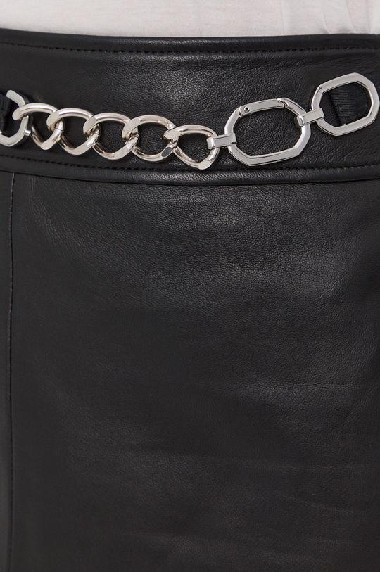 czarny Hugo - Spódnica skórzana