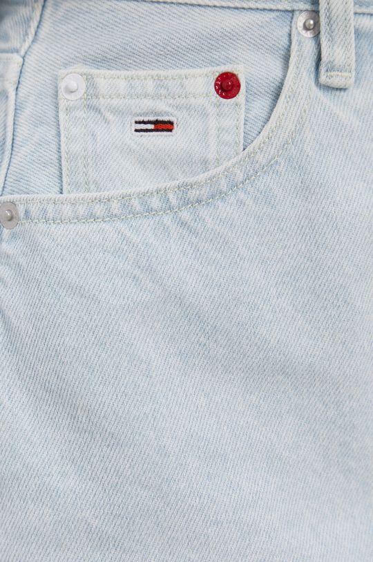 modrá Tommy Jeans - Bavlněná džínová sukně