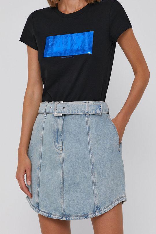 niebieski Armani Exchange - Spódnica jeansowa Damski