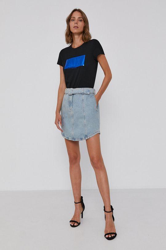 Armani Exchange - Spódnica jeansowa 100 % Bawełna